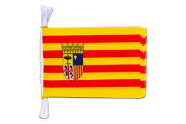 "Spain Aragon - Mini Flag Bunting 6x9"", 3 m"