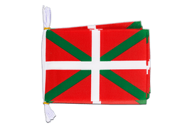 "Spain Basque country - Mini Flag Bunting 6x9"", 3 m"