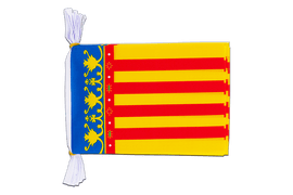 "Spain Valencia - Mini Flag Bunting 6x9"", 3 m"