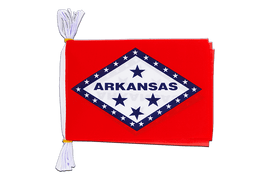 "USA Arkansas - Mini Flag Bunting 6x9"", 3 m"