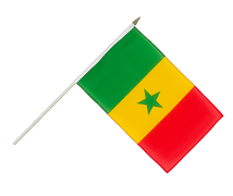 Senegal - Hand Waving Flag 12x18""