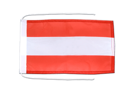 Austria - Flag with ropes 8x12""