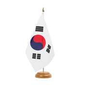 "South Korea - Table Flag 6x9"", wooden"