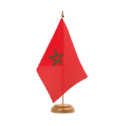 "Morocco - Table Flag 6x9"", wooden"