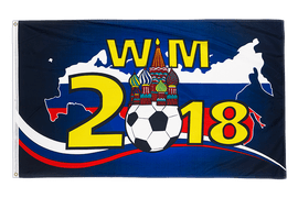 Russia WC 2018 with Kremlin - 3x5 ft Flag