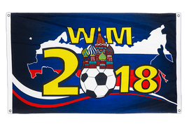 Russia WC 2018 with Kremlin - Banner Flag 3x5 ft, landscape