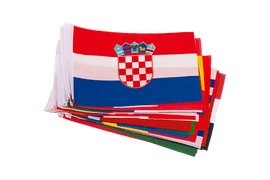 WC 2018 - Little Flag Pack 6x9""
