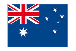 "Australia - Flag Sticker 3x4"", 5 pcs"