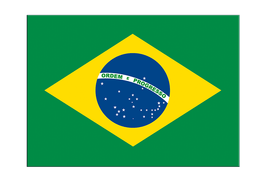 "Brazil - Flag Sticker 3x4"", 5 pcs"