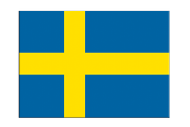 "Sweden - Flag Sticker 3x4"", 5 pcs"