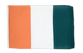 Small Ivory Coast Flag - 12x18""