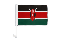 Kenya - Car Flag 12x16""