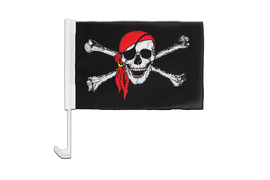 Pirate with bandana - Car Flag 12x16""