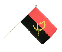 Angola - Hand Waving Flag 12x18""