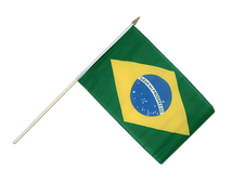 Brazil - Hand Waving Flag 12x18""
