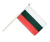 Bulgaria - Hand Waving Flag 12x18""