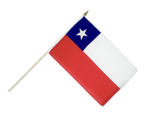 Chile - Hand Waving Flag 12x18""