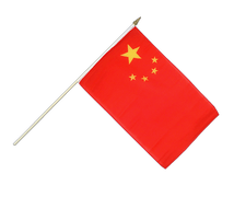 China - Stockflagge 30 x 45 cm