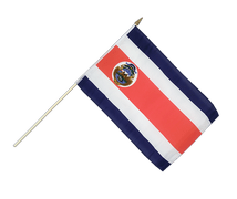 Costa Rica - Hand Waving Flag 12x18""