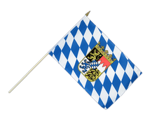 Bavaria with crest Hand Waving Flag - 12x18""