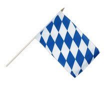 Bavaria without crest - Hand Waving Flag 12x18""