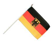 Germany Dienstflagge - Hand Waving Flag 12x18""