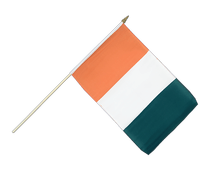 Ivory Coast Hand Waving Flag - 12x18""