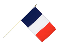 France Hand Waving Flag - 12x18""