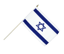Israel - Hand Waving Flag 12x18""