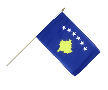 Kosovo - Hand Waving Flag 12x18""