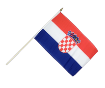 Croatia - Hand Waving Flag 12x18""
