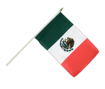 Mexico - Hand Waving Flag 12x18""