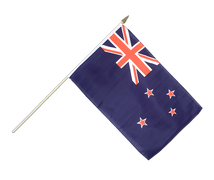 Hand Waving Flag New Zealand - 12x18""
