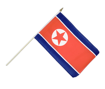 North corea - Hand Waving Flag 12x18""