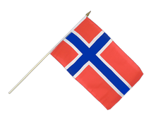 Hand Waving Flag Norway - 12x18""
