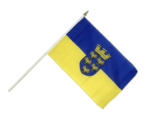 Lower Austria - Hand Waving Flag 12x18""