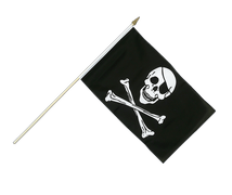 Pirat Skull and Bones - Stockflagge 30 x 45 cm