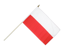 Poland - Hand Waving Flag 12x18""