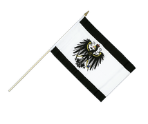 Prussia - Hand Waving Flag 12x18""