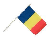 Rumania Hand Waving Flag - 12x18""