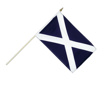 Scotland navy - Hand Waving Flag 12x18""