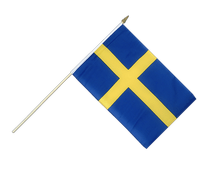 Hand Waving Flag Sweden - 12x18""
