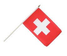Hand Waving Flag Switzerland - 12x18""
