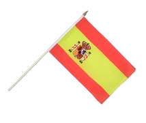 Spain with crest - Hand Waving Flag 12x18""
