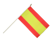 Spain without crest Hand Waving Flag - 12x18""