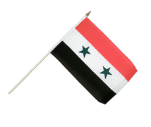 Syria - Hand Waving Flag 12x18""