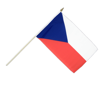 Czech Republic Hand Waving Flag - 12x18""