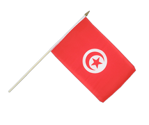 Hand Waving Flag Tunisia - 12x18""