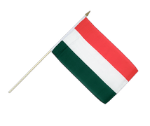 Hungary - Hand Waving Flag 12x18""