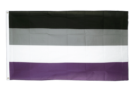 Asexuell - Flagge 90 x 150 cm